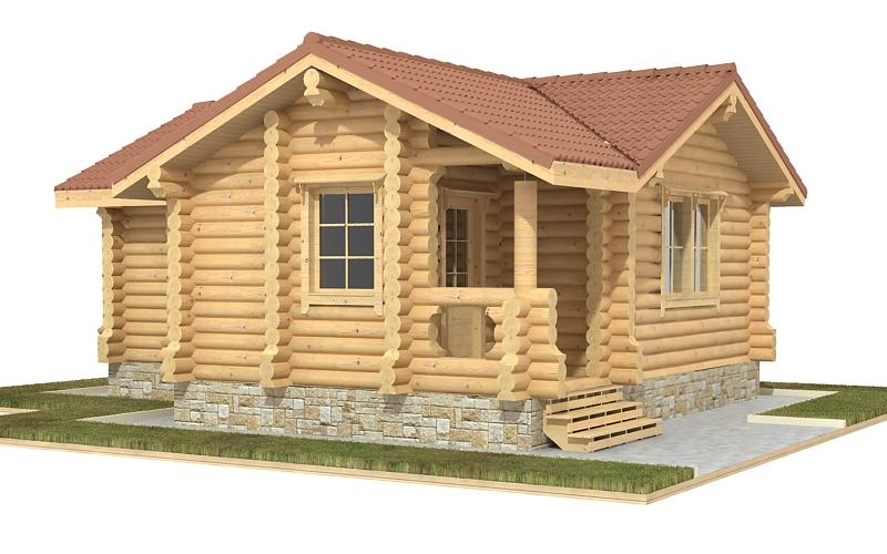 деревянная баня из бревна 46